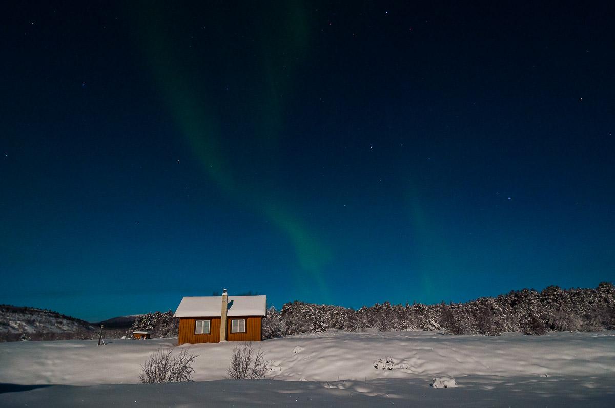 Aurora Borealis nordlys Karasjok