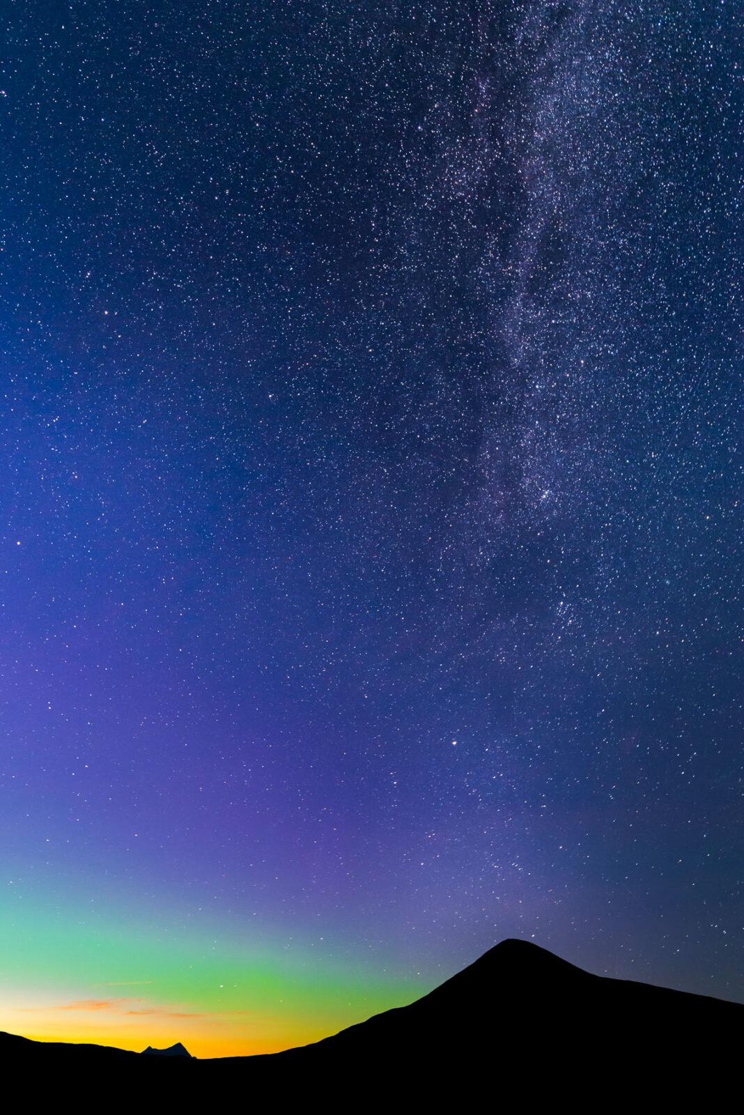 Milky way over Muen. Ringebu, Norway