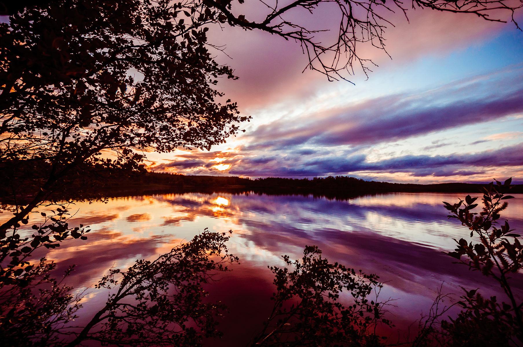 Midnight sun in Finnmark
