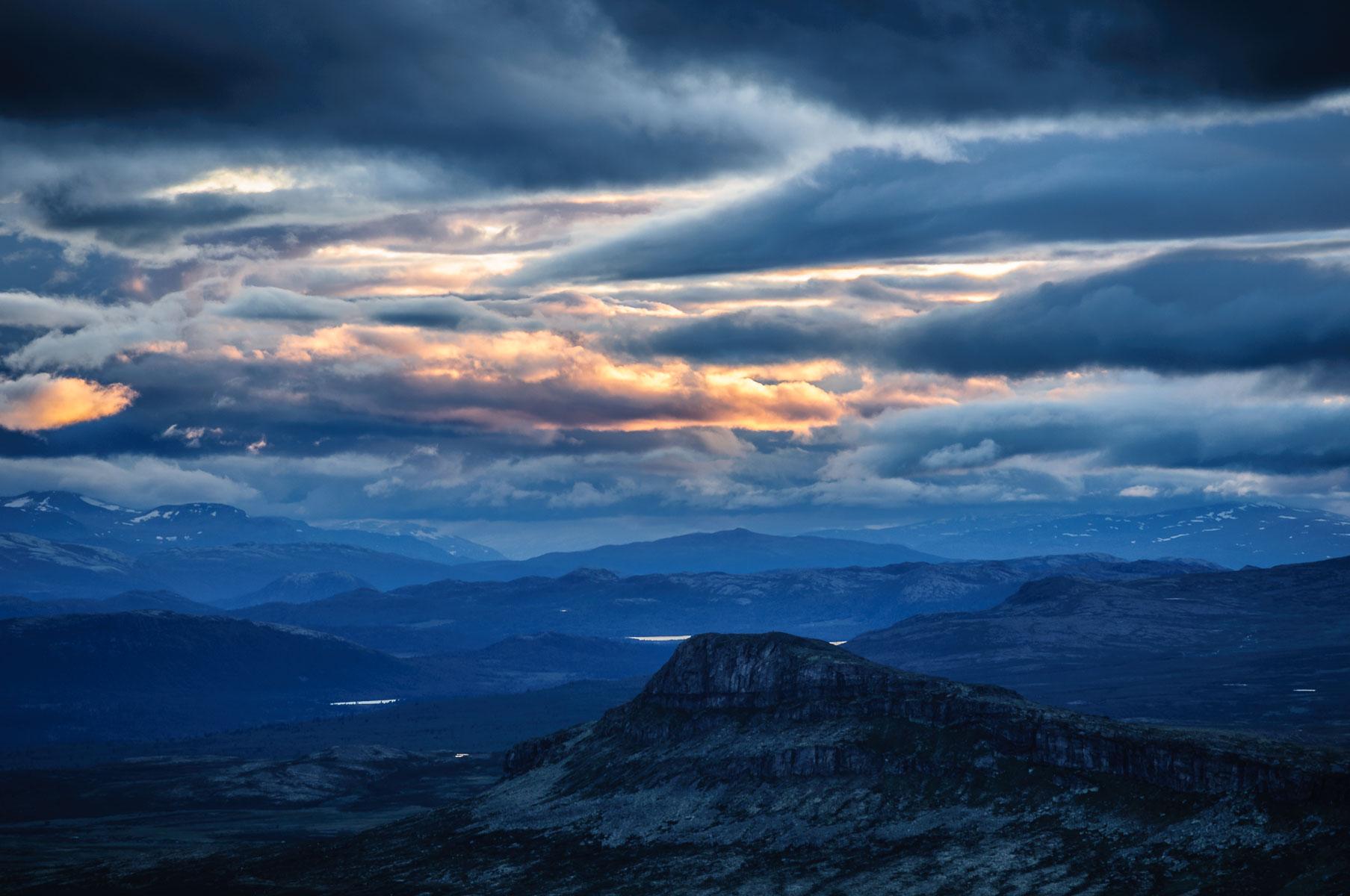 Utsikt fra Muen vestover