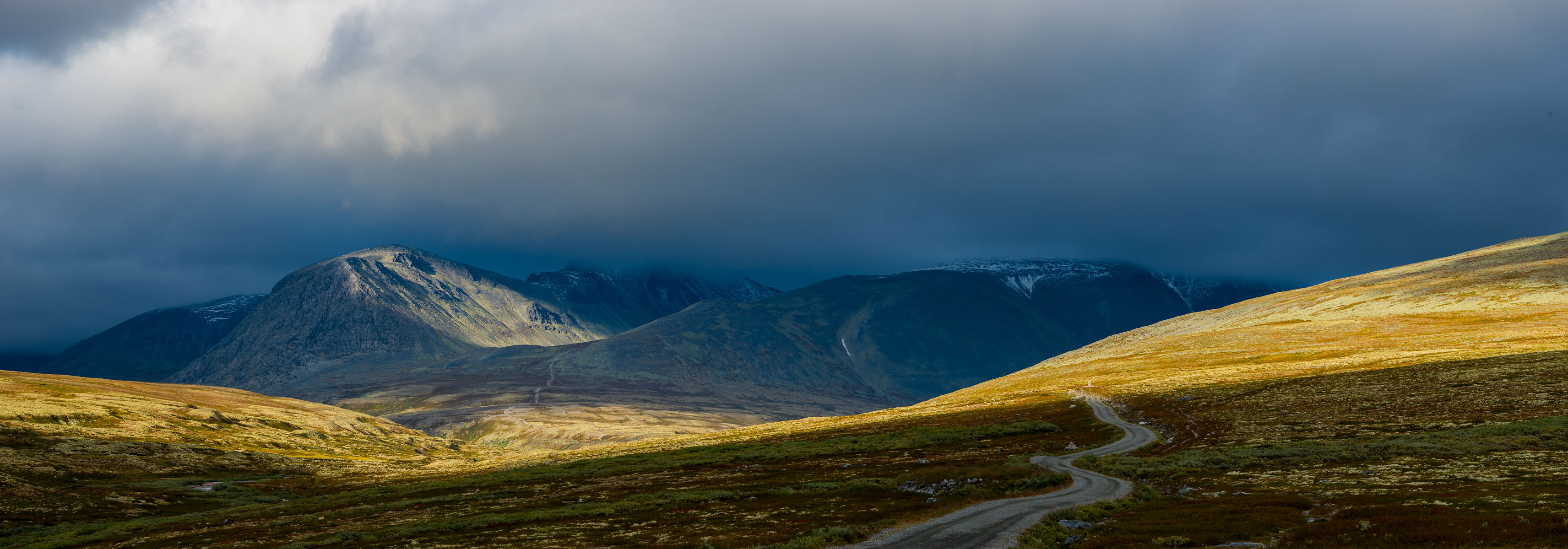 The road to Rondane National Park