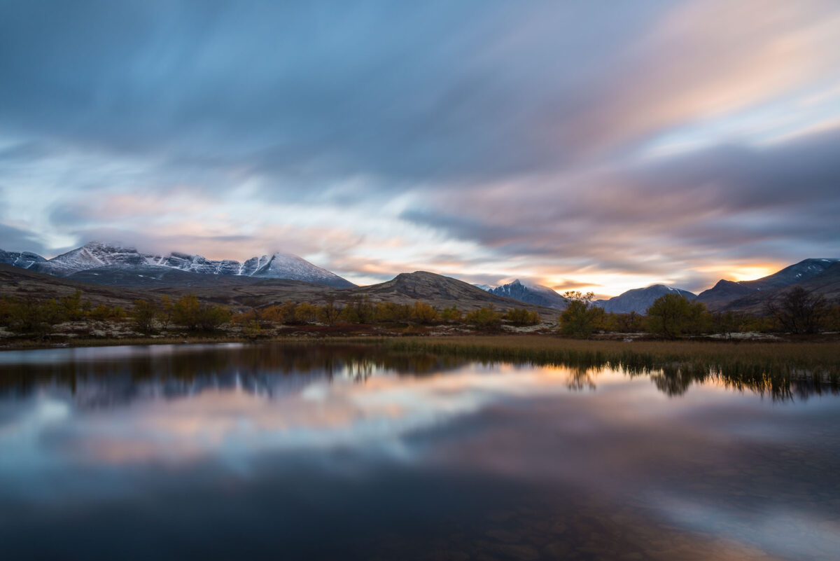 Waiting for the night at Rondane National Park