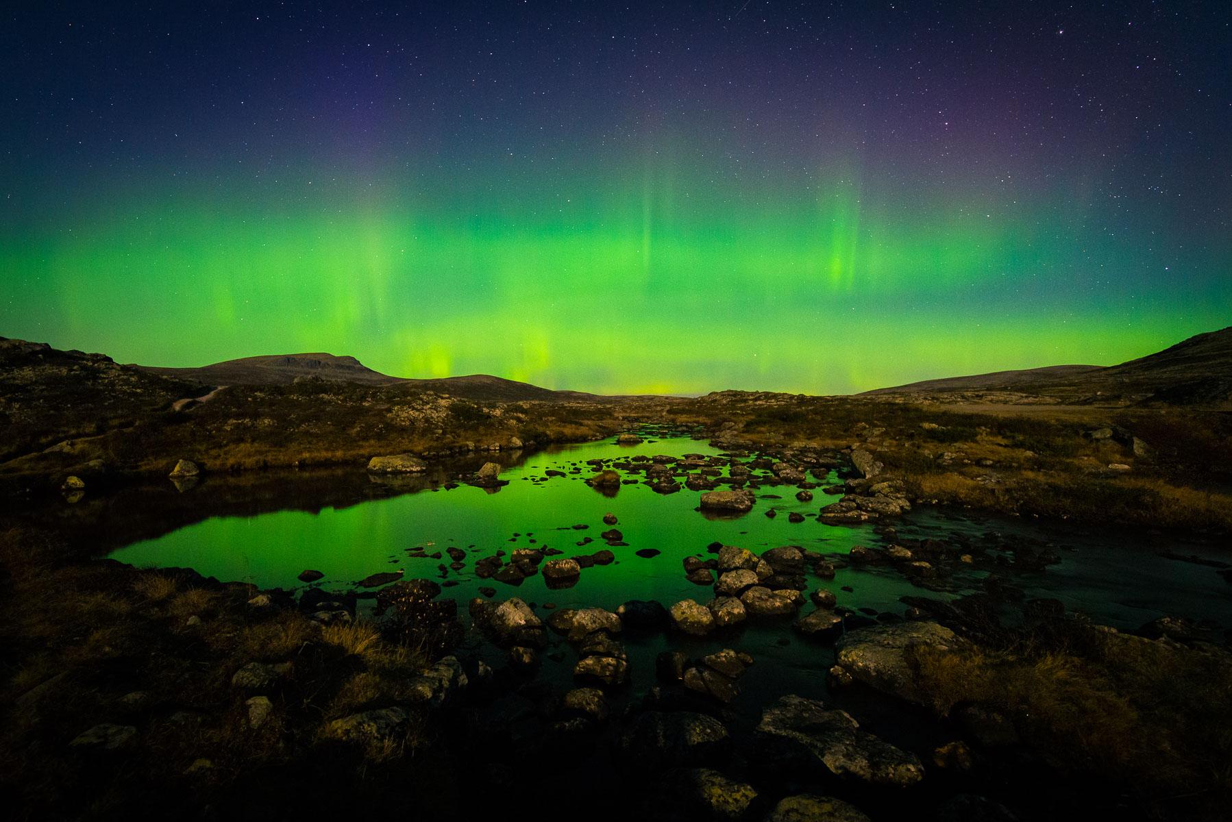 Northern lights Venabygdsfjellet - Muvatnet